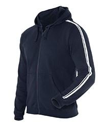 3DSH P/C Dual Stripe Adults F/Zip Hood