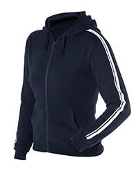 3DSH1 Ladies P/C Dual Stripe F/Zip Hoodie