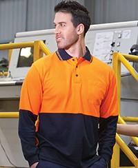 6HPL JB's Hi Vis Cotton Back Polo - Long Sleeve