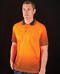 6HVNS JB's Hi Vis Net Sub Polo - Short Sleeve