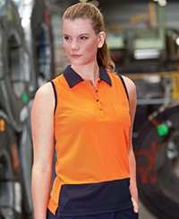 6LHSP JB's Hi Vis Sleeveless  Polo - Ladies