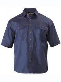 BS1433 Original Cotton Mens Drill Shirt - Short Sleeve