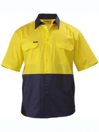 BS1895 2 Tone Cool Lightweight Drill Shirt - Short Sleeve