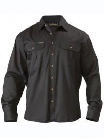 BS6433 Original Cotton Mens Drill Shirt - Long Sleeve