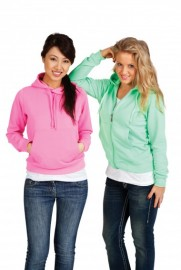 F200PP  Ladies/juniors Non Zip Fluoro Hoodies