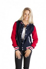 FB97UN Ladies Varsity Jacket & Hood