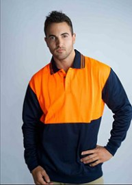 IJP Hi-Vis Polyester Polo Neck Jumper
