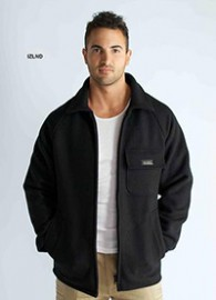 IZLND  34oz Black 3/4 Length Bluey Jacket