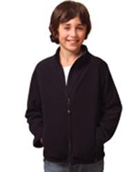PF07K Kids Bonded Polar Fleece Full Zip Fitted Jacket