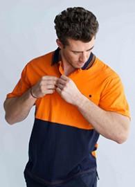 POLOSSP  Hi-Vis Polyester Short Sleeve Polo