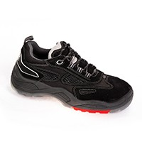 S308 SS Black Mesh & Suede Leather - Derby Lace Up Sports Shoe