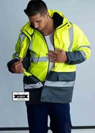 STM4IN1 Hi-Vis Reflective Poly-Oxford 4-1 Jacket