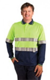 SW21A Men's TrueDry® Safety Long Sleeves Polo with 3M Reflective Tape