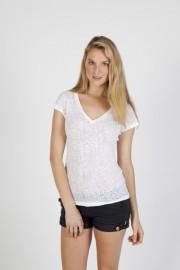 T931LD Ladies Burnout V-neck T-shirt
