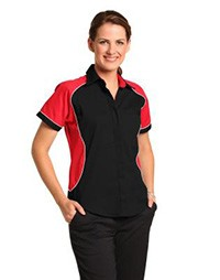 BS16 Ladies' Arena Tri-colour Contrast Shirt