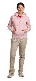FL04 Ladies' Full-zip Fleecy Hoodie