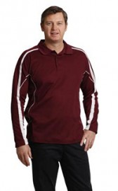 PS69 Legend Plus Mens TrueDry Fashion Long Sleeve Polo