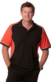 PS77 - Arena Polo Mens TrueDry Tri-colour Short Sleeve Pique Polo