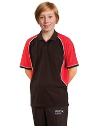 PS77K- Arena Polo Kids TrueDry Tri-colour Short Sleeve Pique Polo