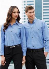 LB6201 Ladies Wrinkle Free Chambray Long Sleeve Shirt