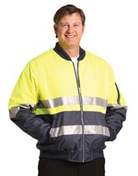 SW16A Hi Vis Two Tone Flying Jacket With 3m Reflective Tape