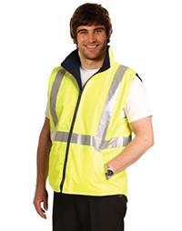 SW19A Hi-vis Reversible Safety Vest With 3m Tapes
