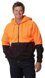 SW24 Men's Hi Vis Two Tone Fleecy Hoodie