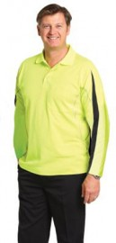 SW33A Men's Truedry Hi-vis Legend Long Sleeve Polo With Reflective Piping