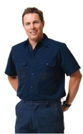 WT05 Men's Dura Wear Short Sleeve Work Shirt